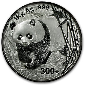 2001 (Kilo Proof) Silver Chinese Panda (W/Box & Coa)